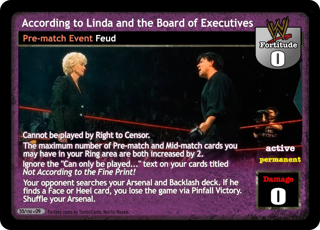 Raw Deal WWE V9.0 According to Linda and the Board ...